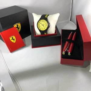 Ferrari Movado Watch, Car, Cologne, Pen Package